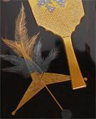 羽子板と羽根蒔絵 文箱