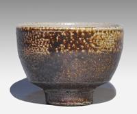 浜田庄司(造) 塩釉流掛茶碗